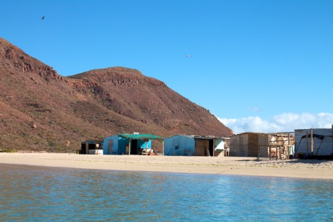 fishing camp at Caleta Partida