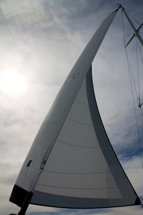a full headsail for a change!
