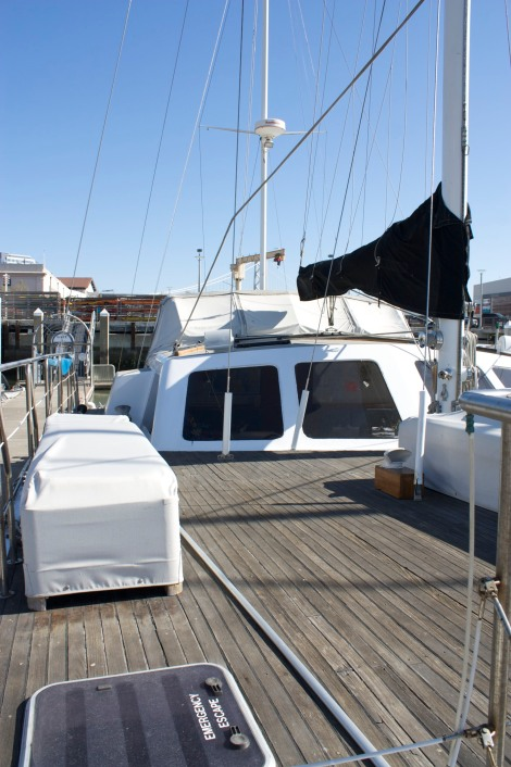 the before and after of the foredeck