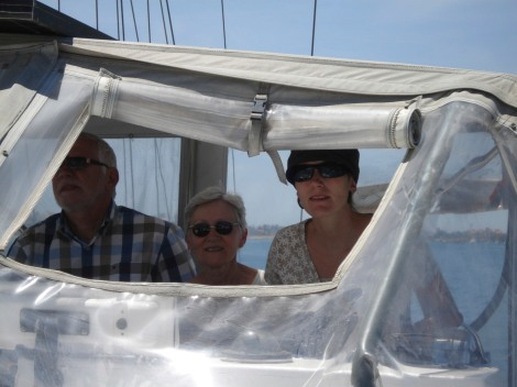 Mum, Pap and mum to be at the helm