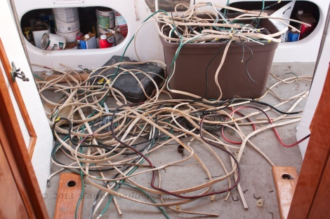 old wiring from just one hull