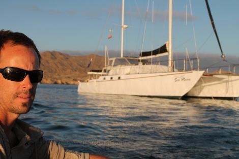 Sea Raven at anchor