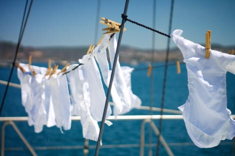 Sea Raven Sailing - washing nappies in exotic locations since 2013