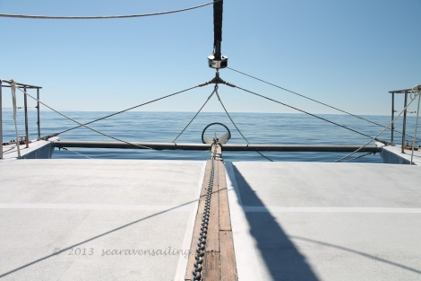sea raven's foredeck before