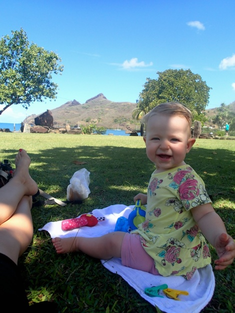 picnicing on the grass